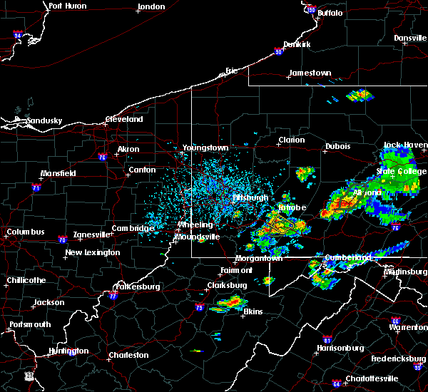 Radar Image for Severe Thunderstorms near Youngstown, PA at 8/2/2019 3:45 PM EDT