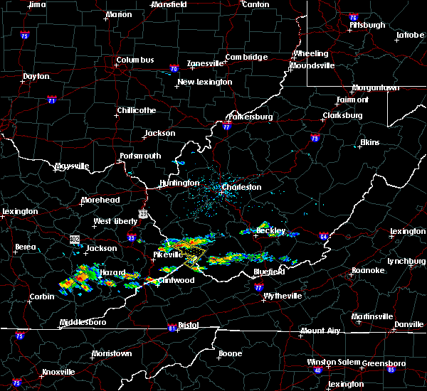 Radar Image for Severe Thunderstorms near Williamson, WV at 6/21/2015 3:34 PM EDT