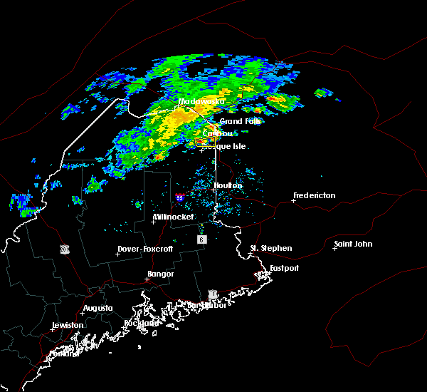 Radar Image for Severe Thunderstorms near Presque Isle, ME at 8/3/2019 3:49 PM EDT