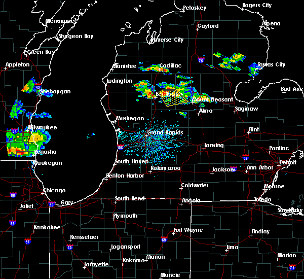 Radar Image for Severe Thunderstorms near Canadian Lakes, MI at 8/3/2019 4:36 PM EDT