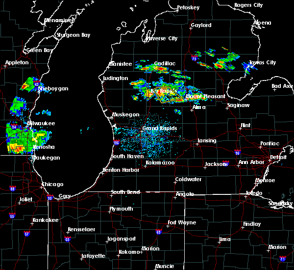Radar Image for Severe Thunderstorms near Canadian Lakes, MI at 8/3/2019 4:53 PM EDT