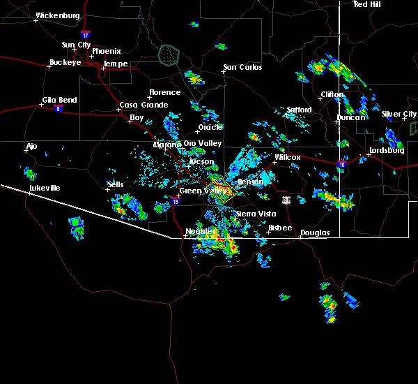 Radar Image for Severe Thunderstorms near Beyerville, AZ at 8/3/2019 2:26 PM MST