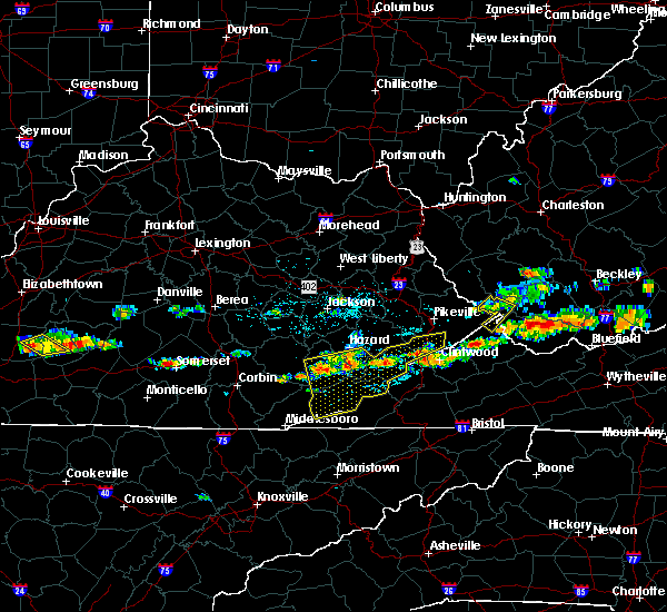 Radar Image for Severe Thunderstorms near Benham, KY at 6/21/2015 4:05 PM EDT