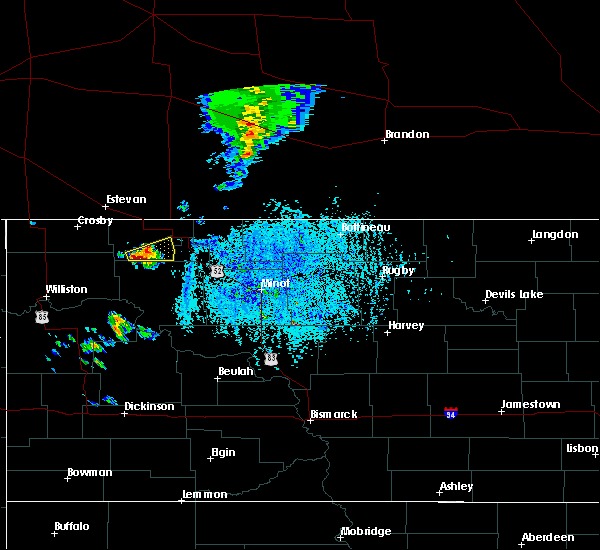 Radar Image for Severe Thunderstorms near Powers Lake, ND at 8/3/2019 4:45 PM CDT