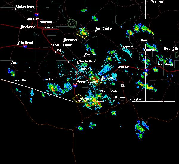 Radar Image for Severe Thunderstorms near Beyerville, AZ at 8/3/2019 2:50 PM MST