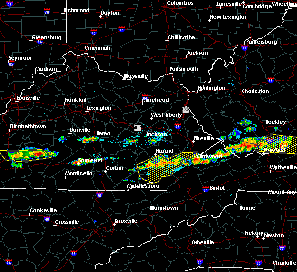 Radar Image for Severe Thunderstorms near Benham, KY at 6/21/2015 4:21 PM EDT