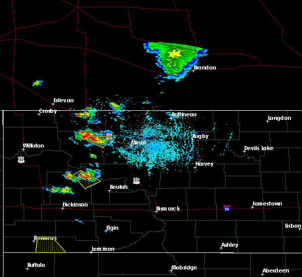 Radar Image for Severe Thunderstorms near Palermo, ND at 8/3/2019 6:33 PM CDT