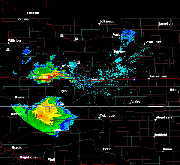 Radar Image for Severe Thunderstorms near Hebron, ND at 8/4/2019 11:08 AM CDT
