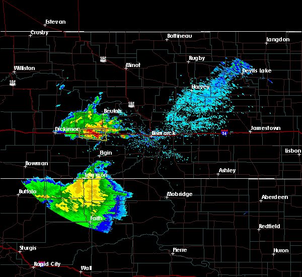 Radar Image for Severe Thunderstorms near Hebron, ND at 8/4/2019 11:25 AM CDT