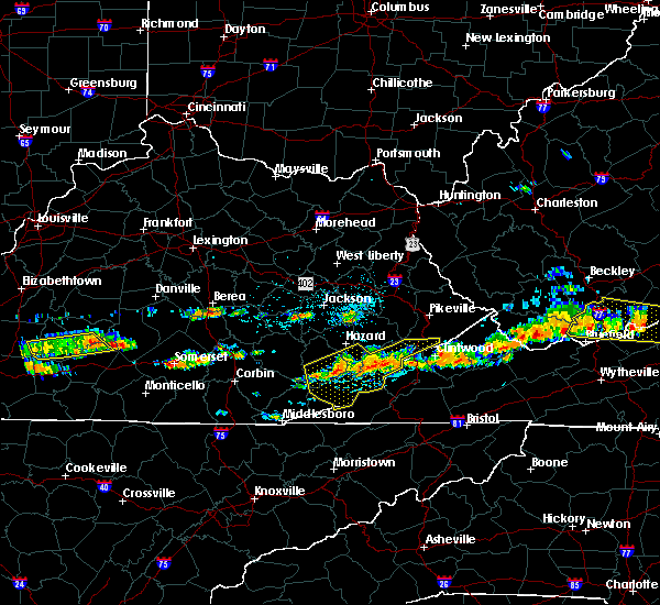 Radar Image for Severe Thunderstorms near Benham, KY at 6/21/2015 4:31 PM EDT