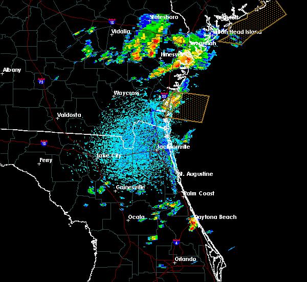 Radar Image for Severe Thunderstorms near St. Simons, GA at 8/4/2019 4:24 PM EDT