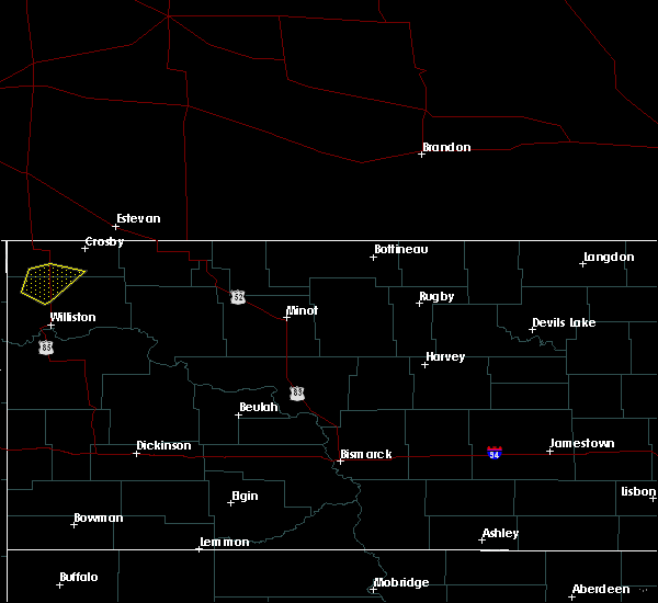 Radar Image for Severe Thunderstorms near Alamo, ND at 6/21/2015 3:36 PM CDT