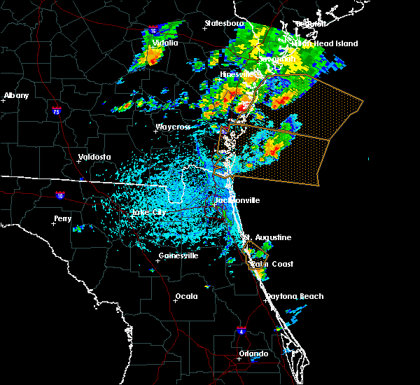 Radar Image for Severe Thunderstorms near Darien, GA at 8/4/2019 5:57 PM EDT