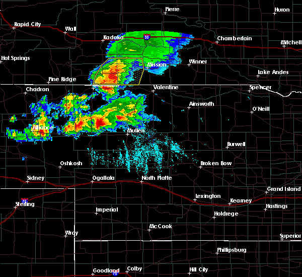 Radar Image for Severe Thunderstorms near Two Strike, SD at 8/4/2019 5:44 PM CDT