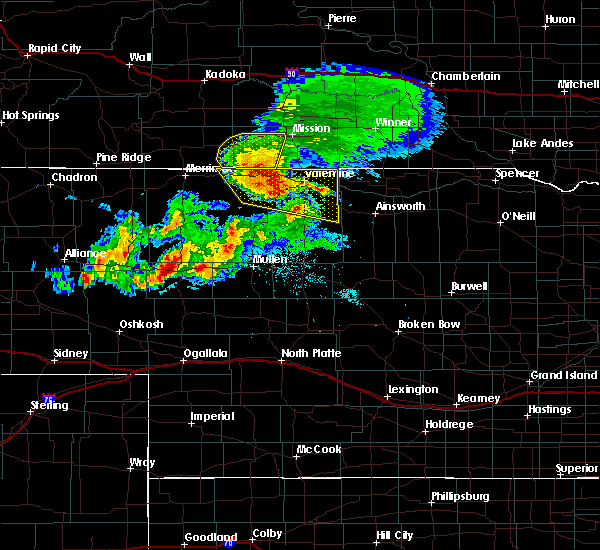 Radar Image for Severe Thunderstorms near St. Francis, SD at 8/4/2019 6:24 PM CDT