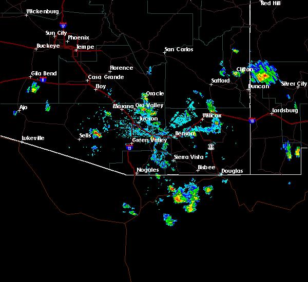 Radar Image for Severe Thunderstorms near Douglas, AZ at 8/4/2019 5:29 PM MST