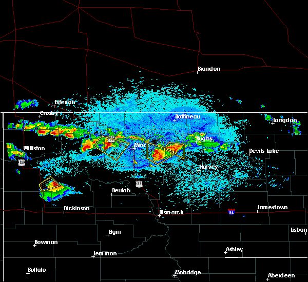 Radar Image for Severe Thunderstorms near Towner, ND at 8/4/2019 11:36 PM CDT