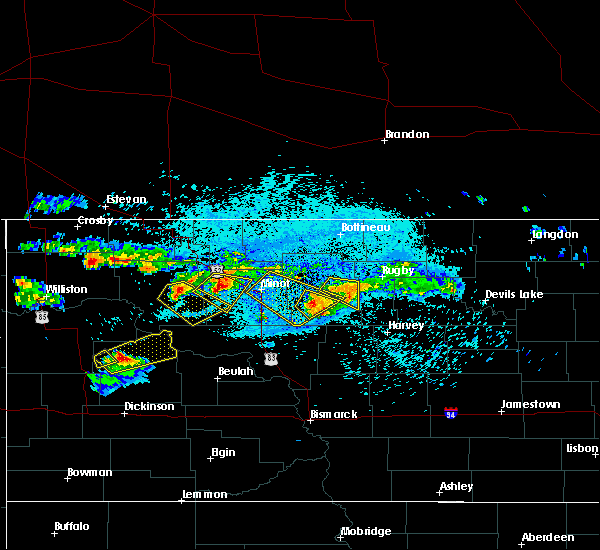 Radar Image for Severe Thunderstorms near Bergen, ND at 8/4/2019 11:46 PM CDT