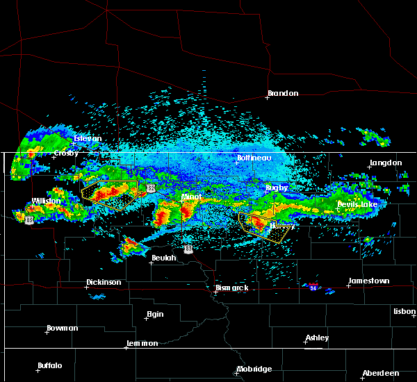 Radar Image for Severe Thunderstorms near Harvey, ND at 8/5/2019 12:37 AM CDT
