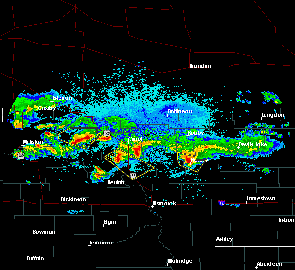 Radar Image for Severe Thunderstorms near Ross, ND at 8/5/2019 12:44 AM CDT