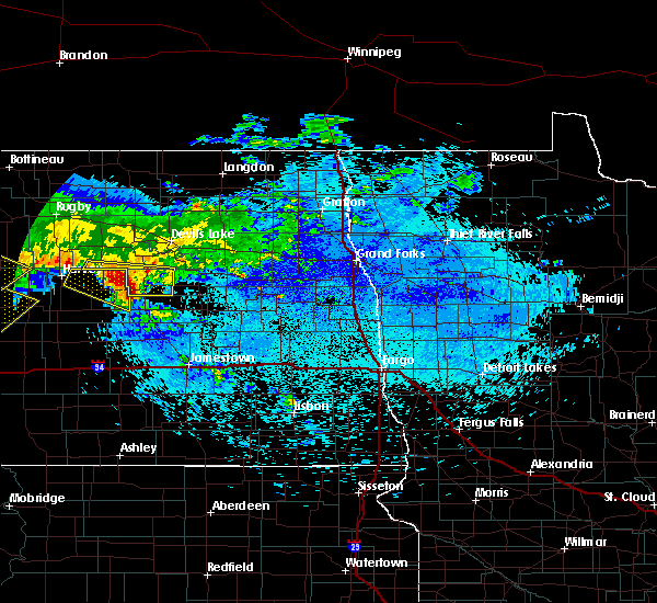 Radar Image for Severe Thunderstorms near New Rockford, ND at 8/5/2019 1:34 AM CDT