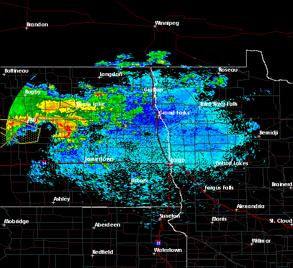 Radar Image for Severe Thunderstorms near New Rockford, ND at 8/5/2019 1:53 AM CDT