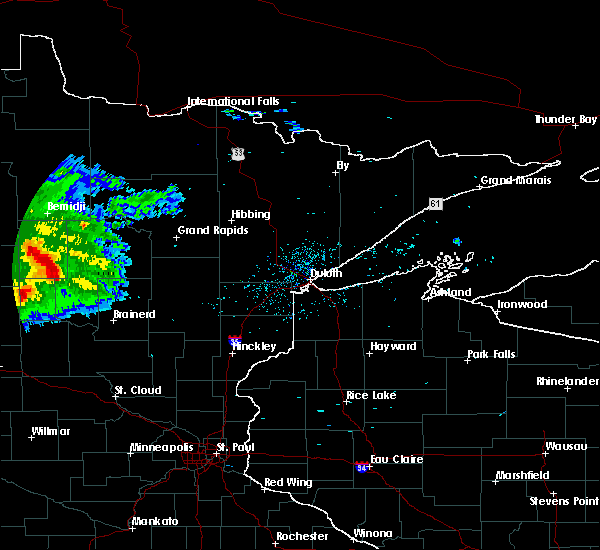 Radar Image for Severe Thunderstorms near Lake George, MN at 8/5/2019 6:28 AM CDT