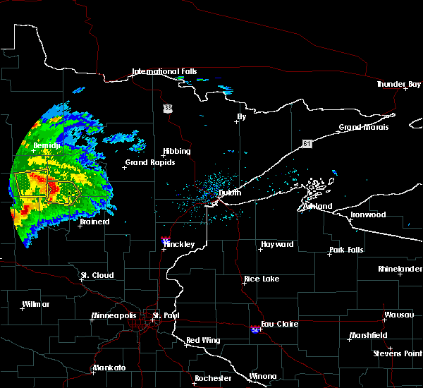 Radar Image for Severe Thunderstorms near Pine River, MN at 8/5/2019 6:43 AM CDT