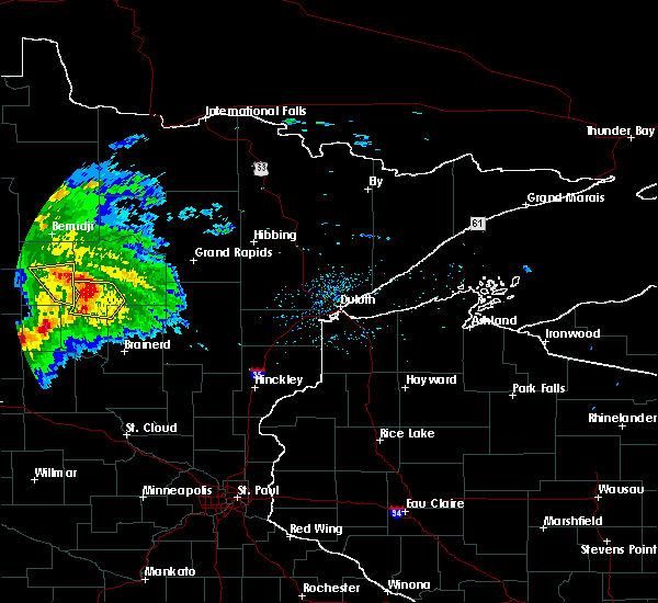 Radar Image for Severe Thunderstorms near Lake George, MN at 8/5/2019 6:48 AM CDT