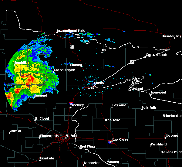 Radar Image for Severe Thunderstorms near Emily, MN at 8/5/2019 7:09 AM CDT