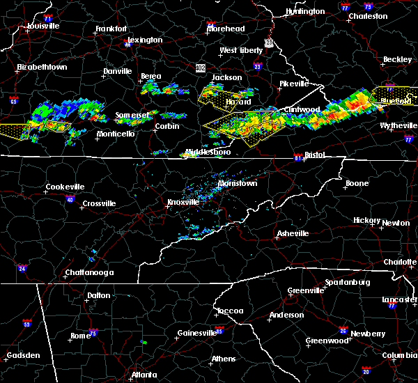 Radar Image for Severe Thunderstorms near Cumberland Gap, TN at 6/21/2015 4:57 PM EDT
