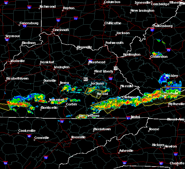 Radar Image for Severe Thunderstorms near Benham, KY at 6/21/2015 4:57 PM EDT