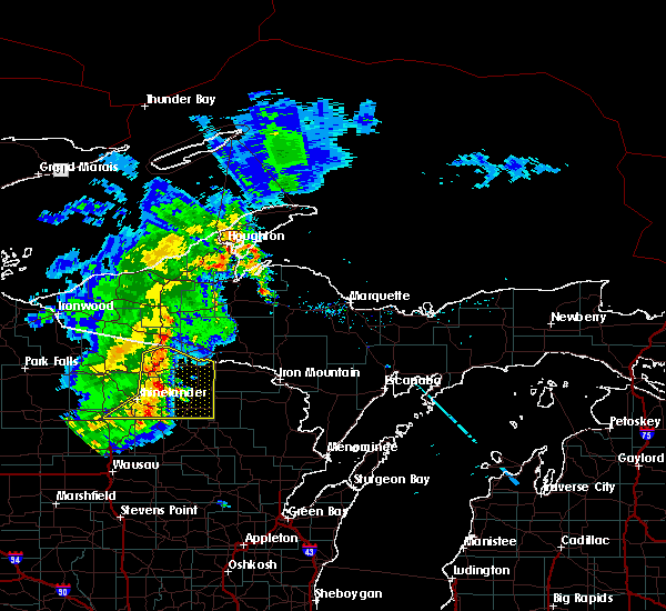 Radar Image for Severe Thunderstorms near Rhinelander, WI at 8/5/2019 1:19 PM CDT