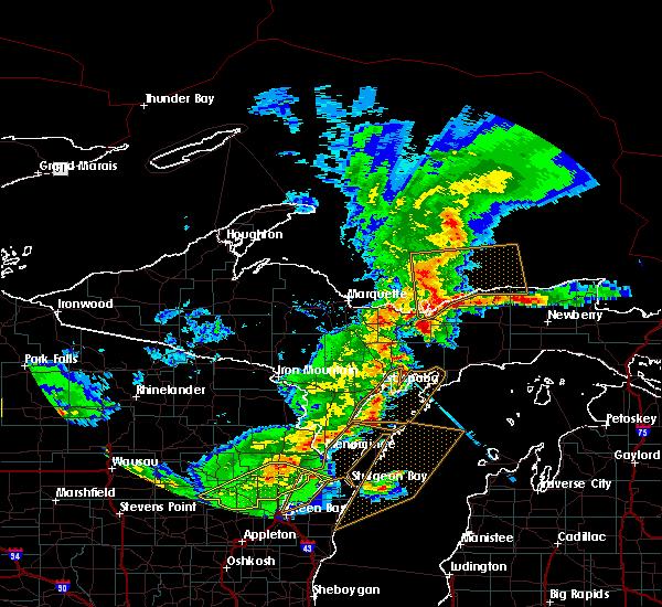 Radar Image for Severe Thunderstorms near Munising, MI at 8/5/2019 4:41 PM EDT