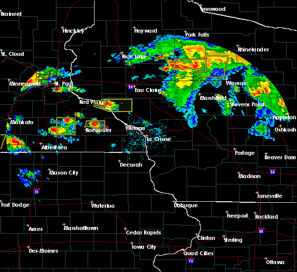 Radar Image for Severe Thunderstorms near Elgin, MN at 8/5/2019 4:30 PM CDT
