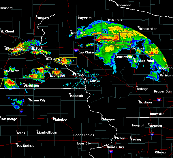 Radar Image for Severe Thunderstorms near Buffalo City, WI at 8/5/2019 4:36 PM CDT