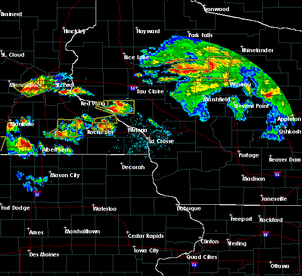Radar Image for Severe Thunderstorms near Buffalo City, WI at 8/5/2019 4:43 PM CDT