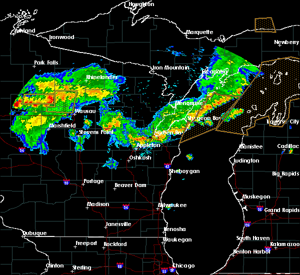 Radar Image for Severe Thunderstorms near Merrill, WI at 8/5/2019 4:42 PM CDT
