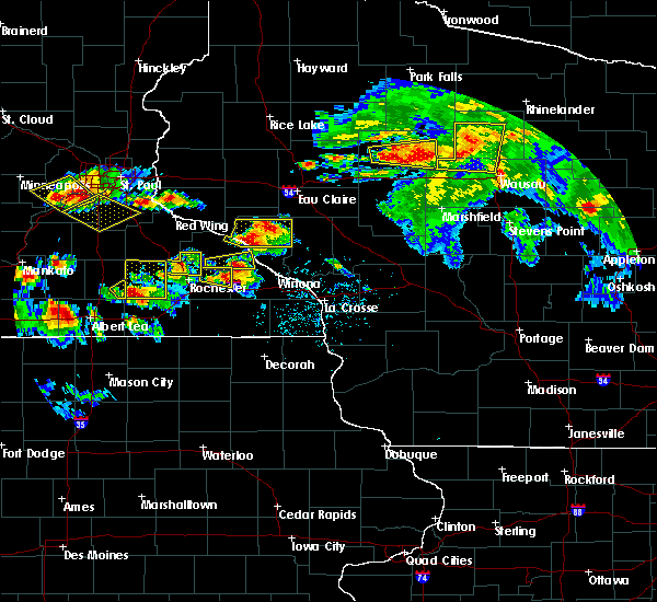 Radar Image for Severe Thunderstorms near Buffalo City, WI at 8/5/2019 4:53 PM CDT