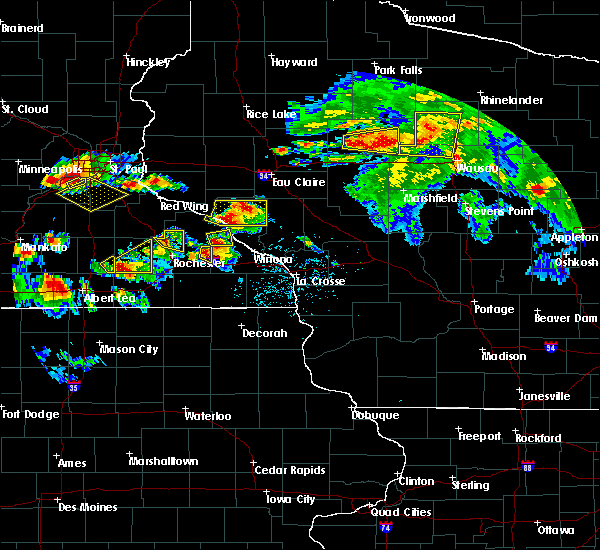 Radar Image for Severe Thunderstorms near Medford, WI at 8/5/2019 4:56 PM CDT