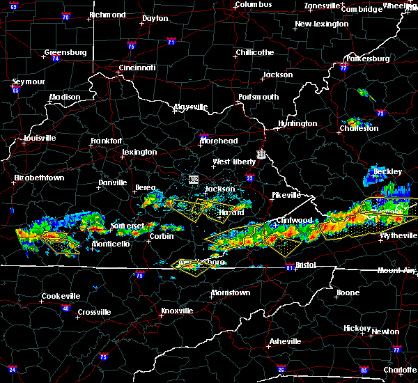 Radar Image for Severe Thunderstorms near Booneville, KY at 6/21/2015 5:13 PM EDT