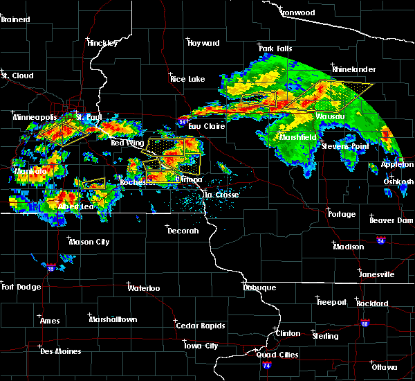 Radar Image for Severe Thunderstorms near Buffalo City, WI at 8/5/2019 5:11 PM CDT