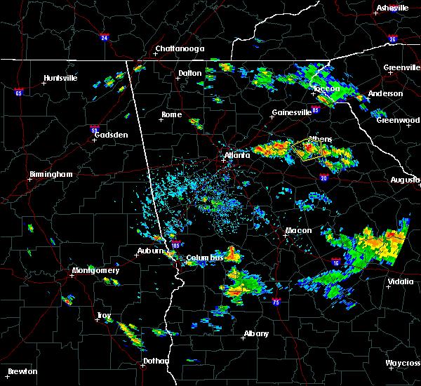 Radar Image for Severe Thunderstorms near Arnoldsville, GA at 8/5/2019 6:25 PM EDT