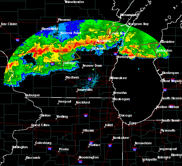 Radar Image for Severe Thunderstorms near Endeavor, WI at 8/5/2019 7:33 PM CDT
