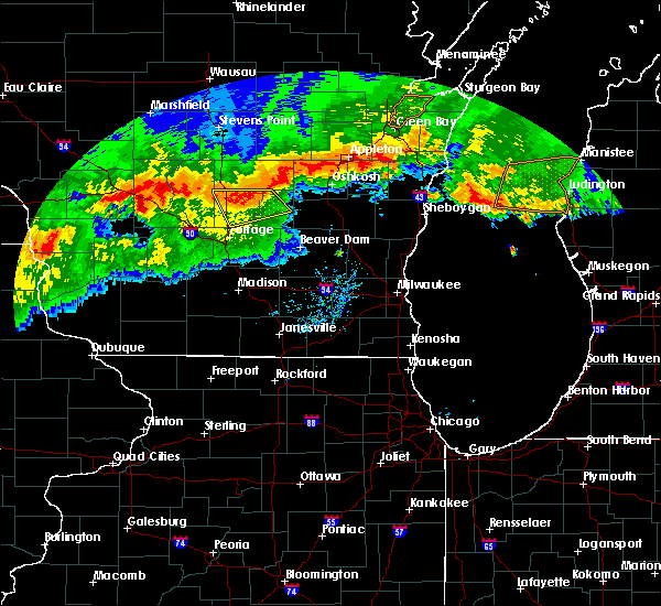 Radar Image for Severe Thunderstorms near Endeavor, WI at 8/5/2019 7:45 PM CDT