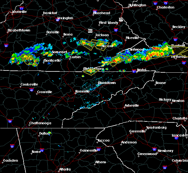 Radar Image for Severe Thunderstorms near Harrogate, TN at 6/21/2015 5:23 PM EDT