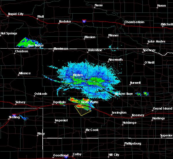 Radar Image for Severe Thunderstorms near North Platte, NE at 8/5/2019 8:07 PM CDT