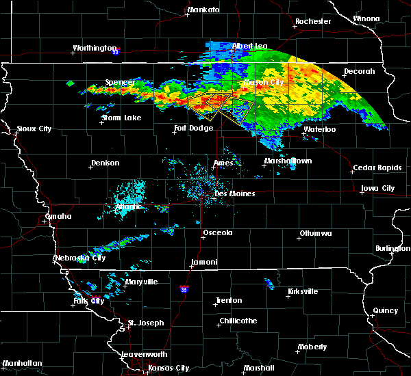 Radar Image for Severe Thunderstorms near Dows, IA at 8/5/2019 8:10 PM CDT