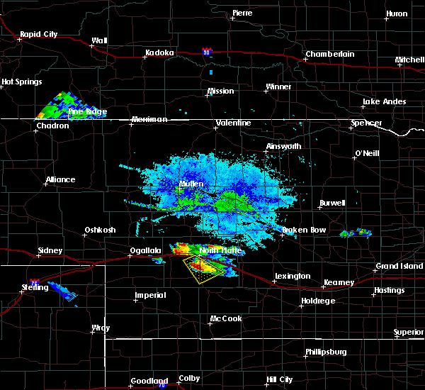 Radar Image for Severe Thunderstorms near North Platte, NE at 8/5/2019 8:18 PM CDT
