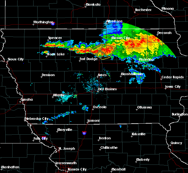 Radar Image for Severe Thunderstorms near Thor, IA at 8/5/2019 8:35 PM CDT